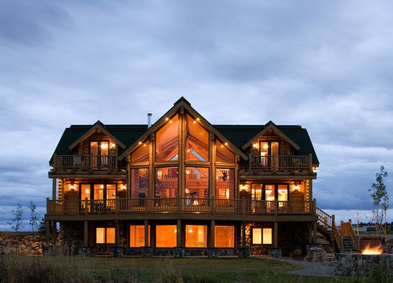 rock and log cabins - Bing Images