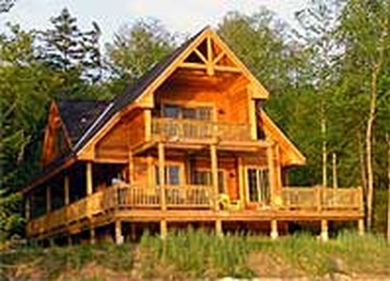 Cabin gentlemint Vacation house plans sloped lot