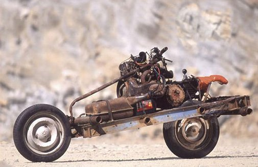Real-Life MacGyver builds motorcycle from Citroen...while stranded in Sahara