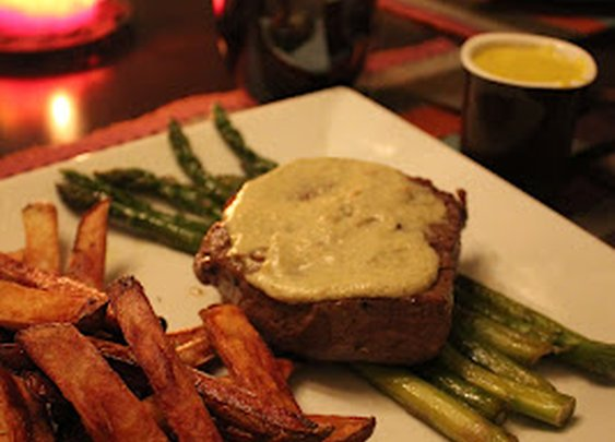 Filet Mignon with Bearnaise Sauce.