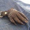 Genuine Foot Crocodile Skin Leather Keychain