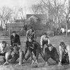 Dwight Eisenhower playing backyard football