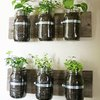 Make A Wall Mounted Spice Rack From Canning Jars