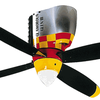Airplane Fan, P-51 Mustang Warbird Airplane Ceiling Fan