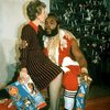 Mr T. Santa Clause with Nancy Regan