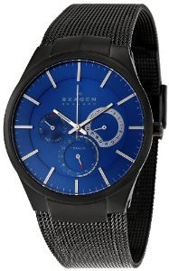 Skagen 809XLTBN Titanium Blue Dial Watch