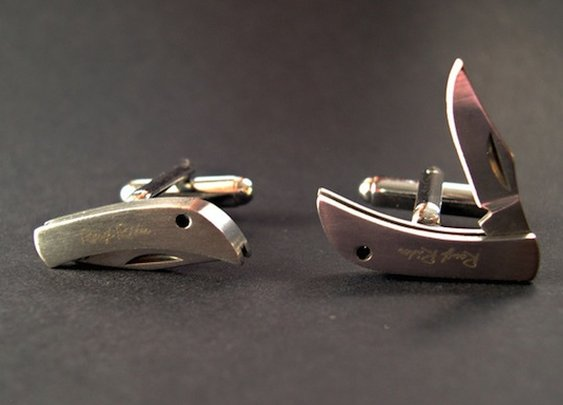 These Cufflinks are Knives   Geekosystem
