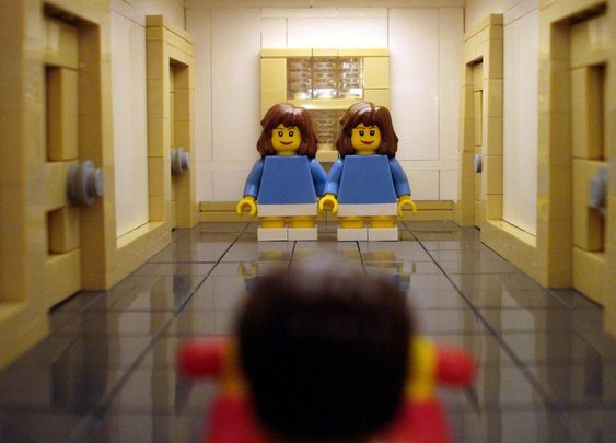 LEGO The Shining scene