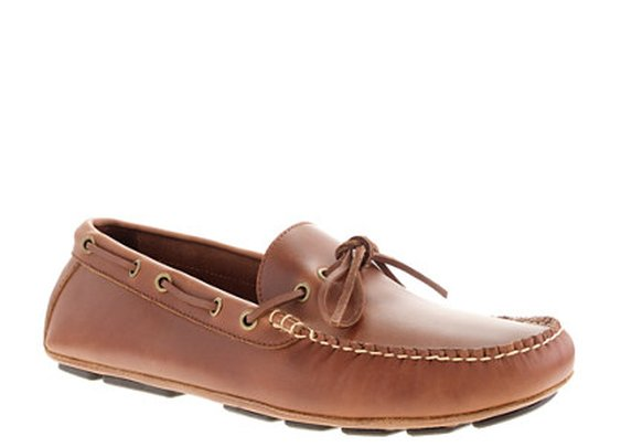 Thompson lace-front driving moccasins