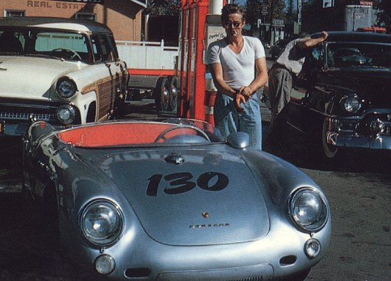 James Dean & his Porsche 550 Spyder