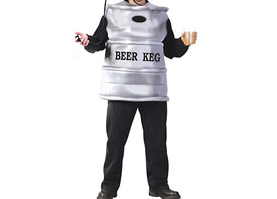 Beer Keg Men's Costume with Working Tap Helmet & Pump - Larger Images