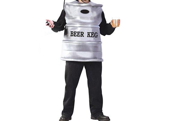 Beer Keg Men's Costume with Working Tap Helmet & Pump - Larger Images