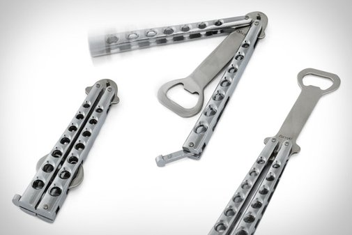 Butterfly Knife Styled Bottle Opener | Uncrate
