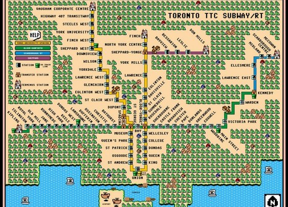 Toronto TTC Subway Map Super Mario 3 Art Prints by Dave Delisle - Shop Canvas and Framed Wall Art Prints at Imagekind.com