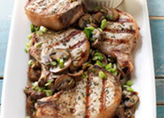 Pork Chops with Marsala and Porcini Mushroom Sauce