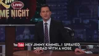 Hey Jimmy Kimmel, I Sprayed My Dad With a Hose