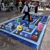Talented sidewalk painter gives Pac-Man a new dimension   Games Blog - Yahoo! Games