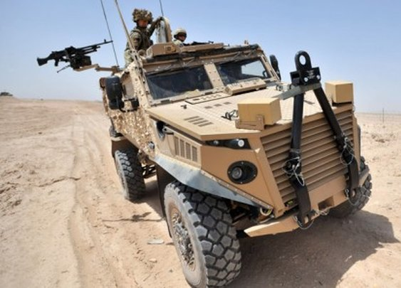 British Army's Foxhound vehicle gives soldiers better protection, higher-speed
