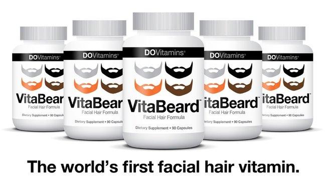 Facial hair growth supplement