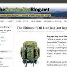 Bug Out Bag Item List - find out what you need to survive. - StumbleUpon