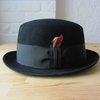 Vintage Stetson homburg // 60s black fedora // by BlueFennel