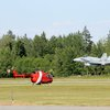 CF-18 Flypast Coast Guard Helicopter