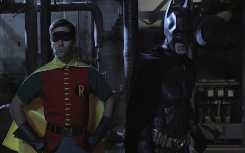 1960s Robin and 2012 Dark Knight (video)