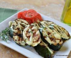 Garam Masala Grilled Zucchini with Curry Yogurt Sauce