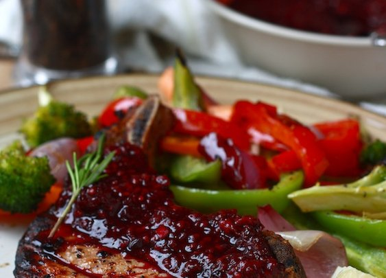 Season with Spice - Features: Grilled Pork Chops with Blackberry-Ginger Sauce