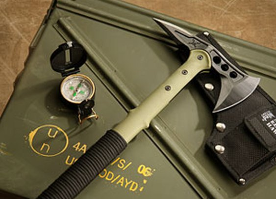 ThinkGeek :: M48 Kommando Ranger Hawk Axe With Compass