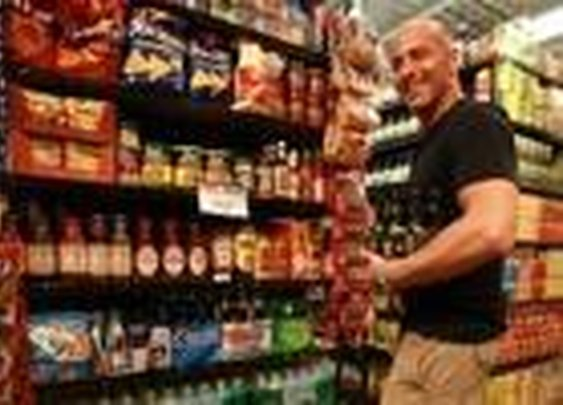 """Grocery stores launches """"man aisle"""""""