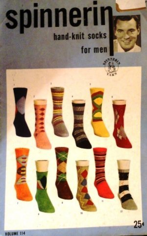 Vintage Knitting Pattern Hand Knit Socks For Men Spinnerin Volume 114