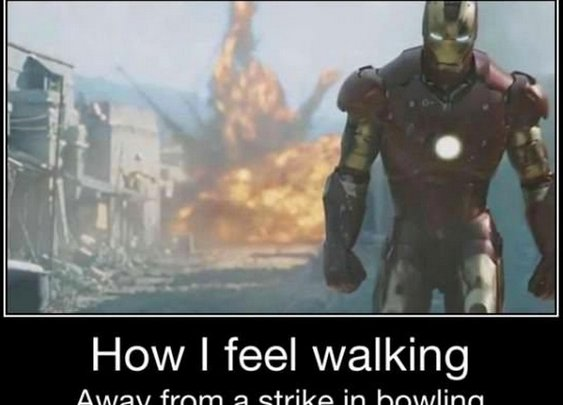 How I feel after a strike in bowling