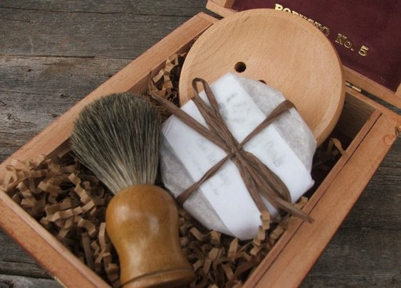 Badger Brush Shave Set Mens Gift by DirtyDeedsSoaps on Etsy