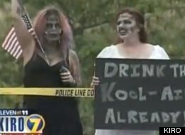Westboro Baptist Church Military Protest Countered By Zombie Demonstrators (VIDEO)