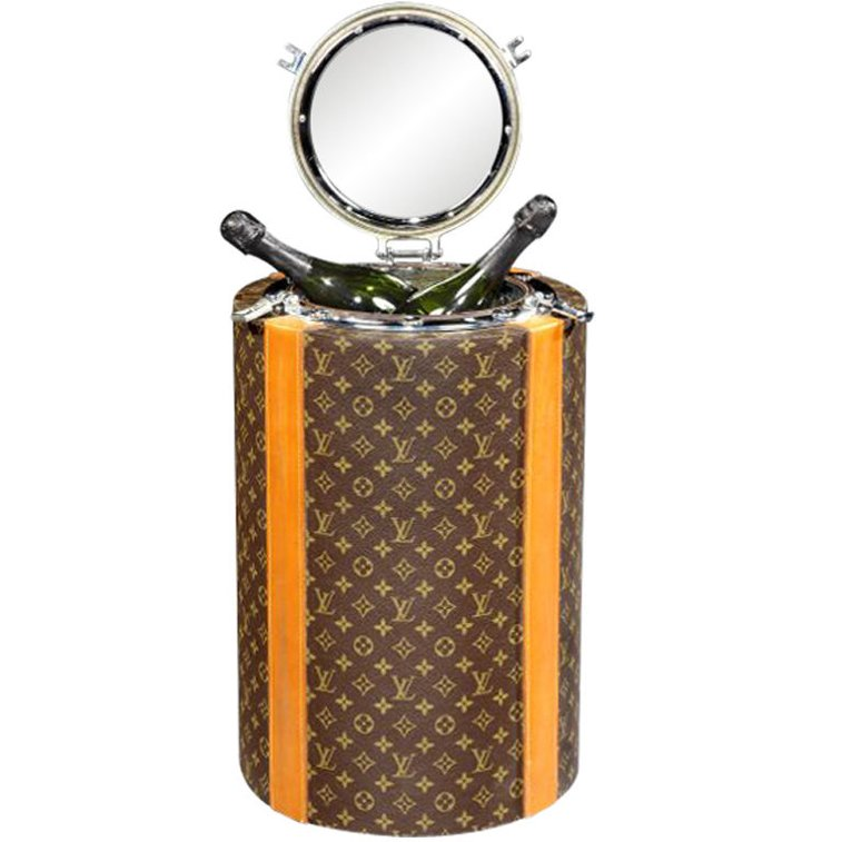 'Porthole' Champagne cooler by Louis Vuitton, Paris. 1970.