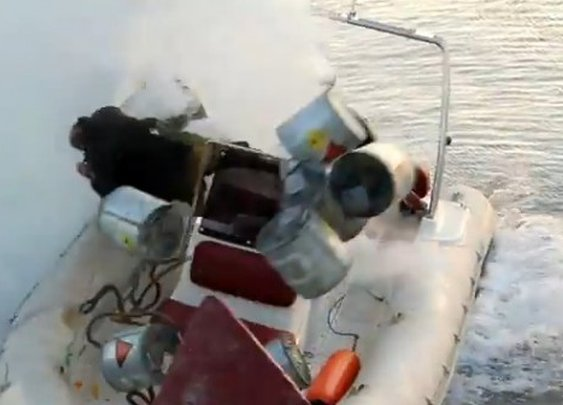 Grenade Dropped Into Water From Boat By an Idiot (Video)