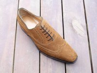 Hand made suede wingtip brogues
