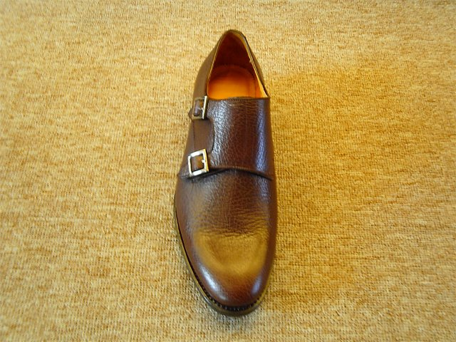 Handcrafted monk straps with double-buckle
