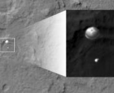 Mars Science Laboratory: NASA's Curiosity Rover Caught in the Act Landing