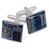 ThinkGeek :: Domed Circuit Board Cufflinks