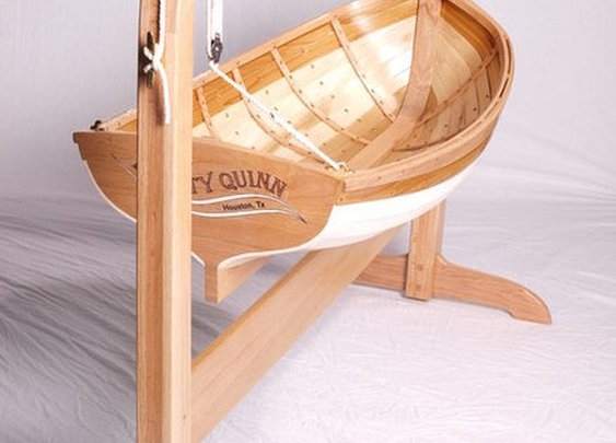 Traditional Boat Builders Baby Cradle