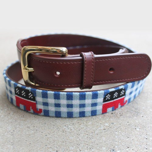 Reaganomics Needlepoint Belt- Tucker Blair