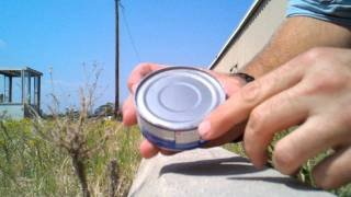 How to open a can without a can opener      - YouTube