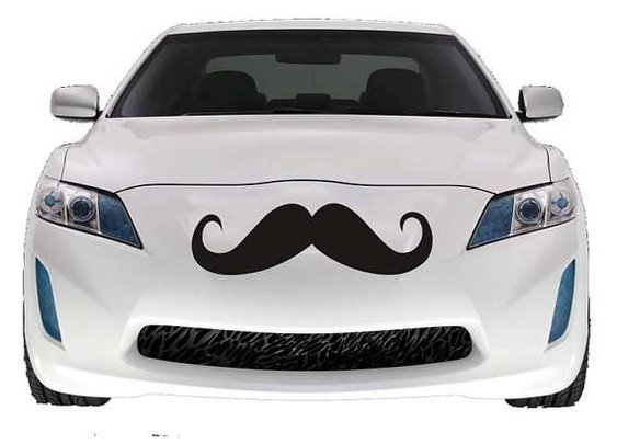 Hairy Automobile Accessories - The Urban Decal Mustache Car Decal Will Put Facial Hair on Your Ride (GALLERY)