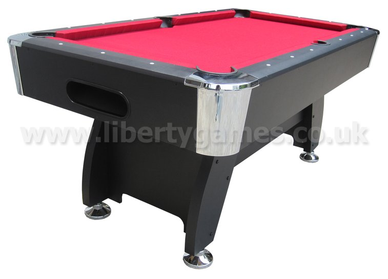 Good Pro American Deluxe 6 Foot Pool Table With Red Cloth