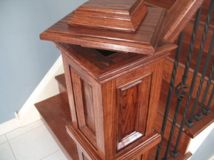 HIdden Compartment in Newel Post | StashVault