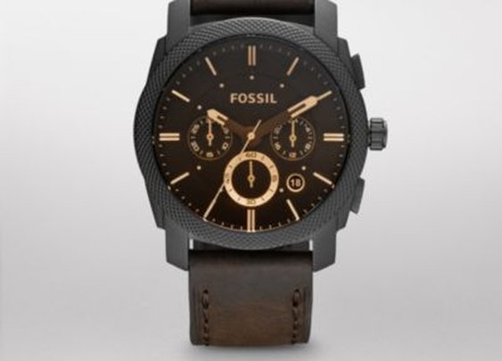 FOSSIL® Watch Styles Casual Watches:Men Machine Leather Watch - Brown FS4656
