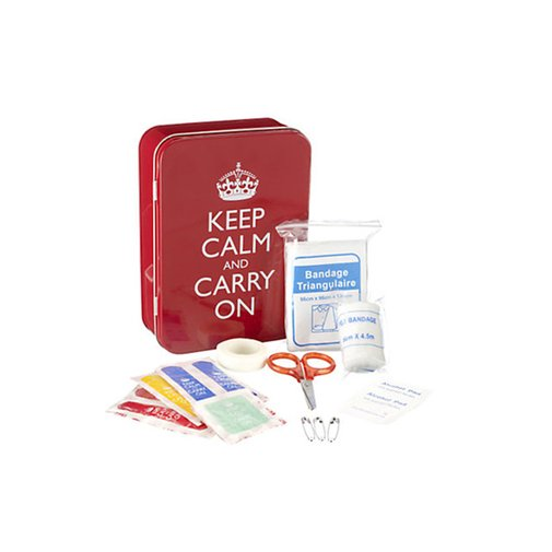 Keep Calm and Carry On FirstAid Kit - D.I.Y