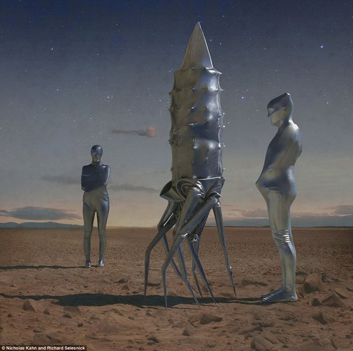 The Martian Chronicles: Artists create mesmerizing photographs based on Mars landscapes to bring to life not-too-distant future  | Mail Online